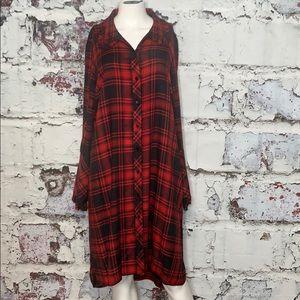 NWOT soft surroundings plaid dress L